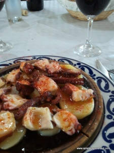 Spanish octopus dish