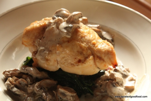stuffed chicken breasts with mushroom sauce