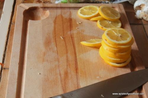 duck legs with lemon
