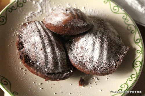 chocolatey madeleines