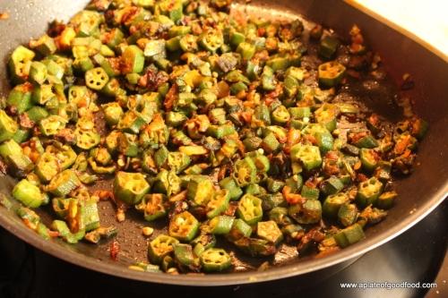 spiced okra
