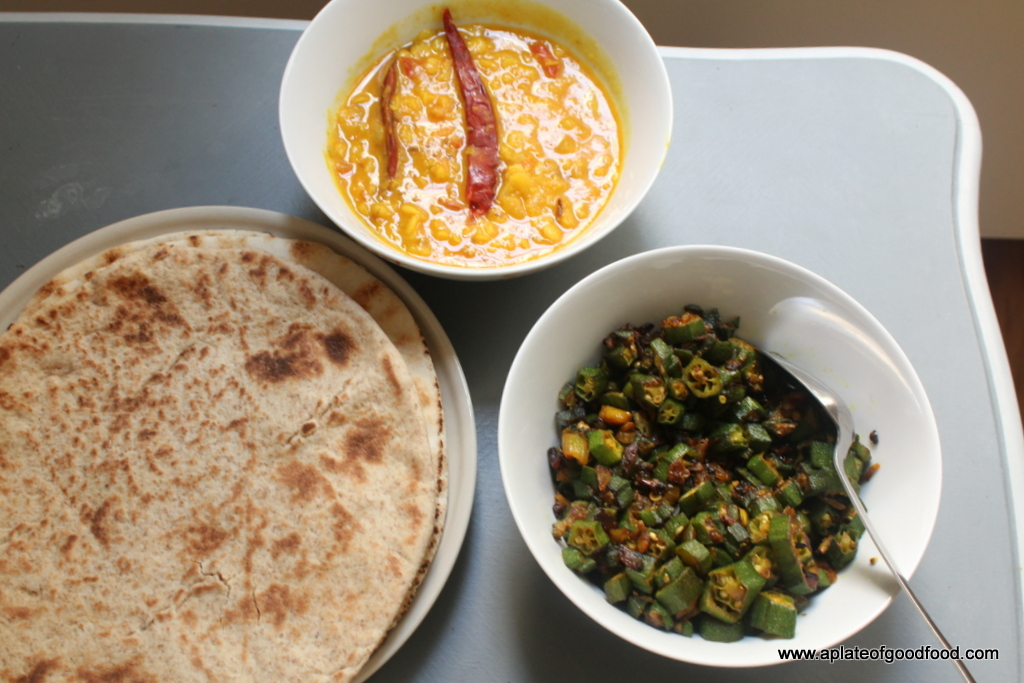 An indian meal in paris easy tadka dal okra bhindi fry indian dinner forumfinder Image collections