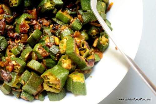 indian spiced okra