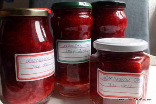 strawberry jam jars