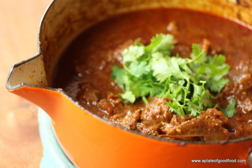 spicy indian meat curry