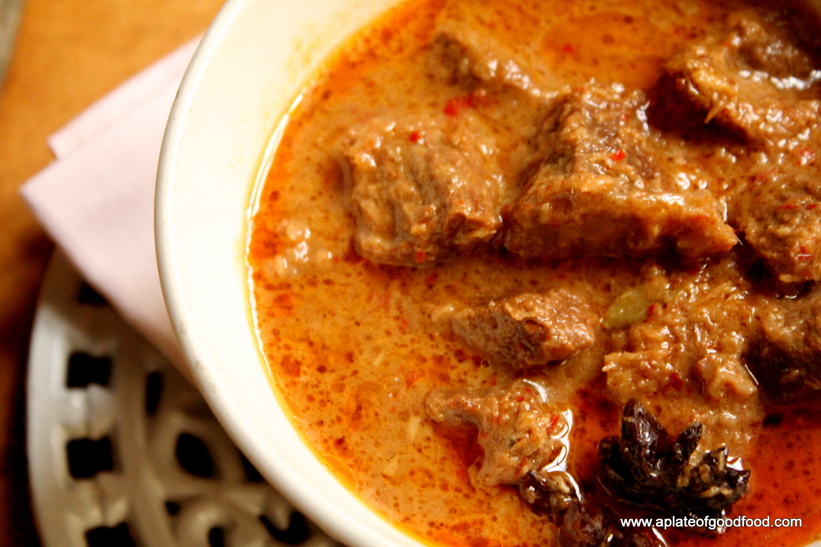 Beef Rendang (original recipe can be found here )
