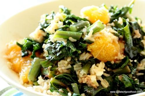 warm rice salad