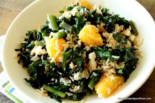 kale orange feta salad