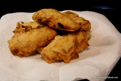fritters with bananas