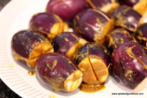 dish with eggplants and paneer