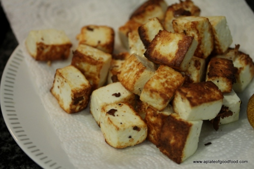 fried paneer dish