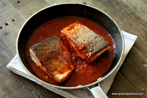 fish in tangy tomato sauce