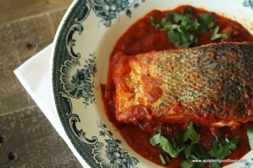 salmon middle eastern dish