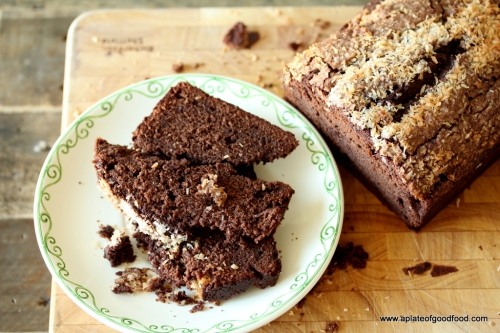 chocolate coconut loaf
