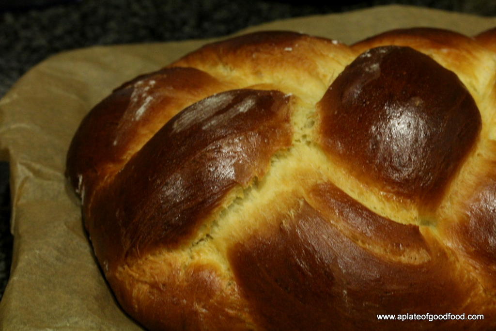 Challah - Beautiful Braided Bread | A Plate of Good Food