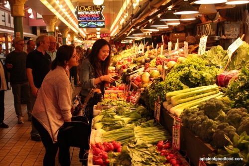 Vegetables at Pike Place Seattle